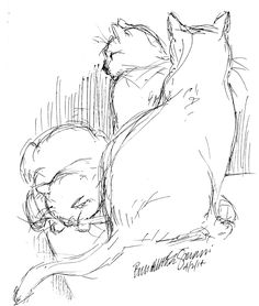 Creative Cat - Daily Sketch: After Dinner Animal Sketches, Animal Drawings, Art Sketches, Cat Sketch, Creature Drawings, Dragonfly Art, Ink Pen Drawings, Watercolor Cat, Cat Drawing