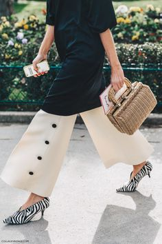 Pfw Paris Fashion Week Fall 2016 Street Style Collage Vintage Celine