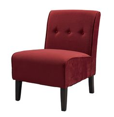Linon 36096RED-01-KD-U COCO ACCENT CHAIR - RED
