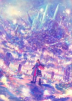 Anime Landscape Great Environments Concept Art And Illustrations. Home and furniture ideas is here Fantasy Places, Fantasy World, Fantasy Art, Manga Art, Anime Art, Anime Galaxy, Image Manga, Anime Kunst, Fantasy Landscape