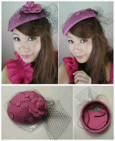 Rosie Face Veiling Fascinator Hat Handmade from Teoel.com