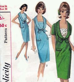 1960s Vintage sewing pattern Simplicity by allthepreciousthings, $10.00