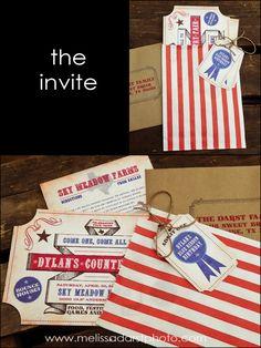 Country Fair Invite  melissadarstphoto.com & stampedpaperco.com