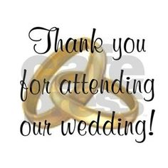 """Thank you for attending our wedding!"""" Bib by popculturetees"""
