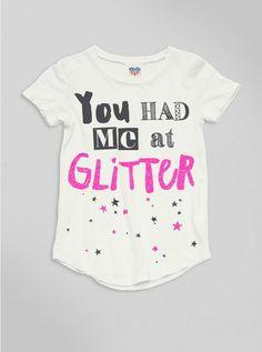 KIDS GIRLS YOU HAD ME A GLITTER TEE - New Arrivals - Kids Girls - Kids: