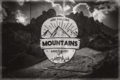 Ad: Mountains Calling Badge by JeksonGraphics on Vintage hand drawn backpacking badge and emblem. Retro Color, Retro Style, Badge Logo, The Mountains Are Calling, Modern Logo, Logo Inspiration, Logo Templates, Background Images, Retro Fashion