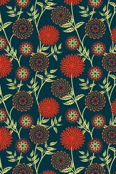 purple mums pattern by lilypadster. Pretty Patterns, Beautiful Patterns, Color Patterns, Flower Patterns, Mosaic Patterns, Textile Patterns, Abstract Pattern, New Flowers Photos, Purple Mums