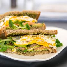 Breakfast Sandwich with Fried Eggs and Smoked Salmon - #foodie #foodporn #recipe #cooking #recipes #MyBSisBos