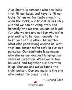 Soulmate and Love Quotes : QUOTATION – Image : Quotes Of the day – Description a soulmate is someone who has locks that fit our keys Sharing is Power – Don't forget to share this quote ! Cute Love Quotes, Best Quotes Of All Time, Favorite Quotes, Soulmate Signs, How To Be Single, Meeting Your Soulmate, Romance, All I Ever Wanted, Love Notes