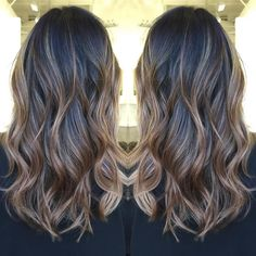 light brown balayage for black hair