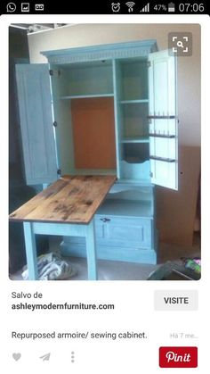 Craft desk: I want this desk. It would be perfect for my polymer ...
