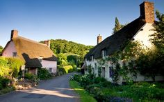 Village of Dunster, Exmoor National Park, England