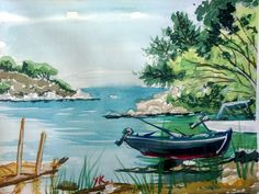 Watercolors, Watercolor Paintings, Chios, Draw, Tv, Water Colors, To Draw, Television Set, Sketches