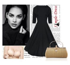 """""""Simple-Dress 25."""" by azraa91 ❤ liked on Polyvore featuring vintage and simpledress"""
