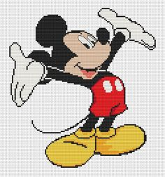 Mickey Mouse cross stitch pattern Disney Cross Stitch disney