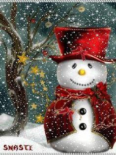 Merry Christmas & Happy New Year ! Animated Christmas Tree, Merry Christmas Gif, Christmas Scenery, Merry Christmas And Happy New Year, Christmas Images, Christmas Snowman, Vintage Christmas, Christmas Time, Christmas Christmas