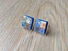 Portuguese tiles replica stud earrings Portuguese tiles by XTory