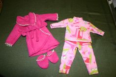 I made these for my grand daughter's American Girl Doll.  I've made a few other outfits but, I didn't take any pictures of them before I gave them to her.