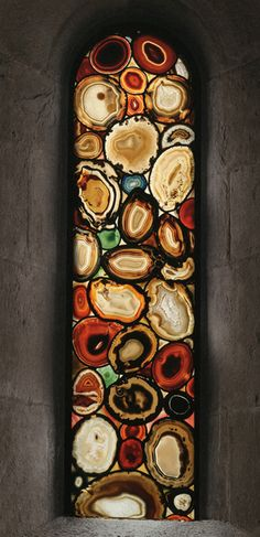 Agate window. I'd love it with all blue agates!