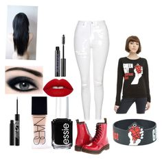 Green Day by shad0wm0nst3r on Polyvore featuring polyvore, мода, style, Topshop, Dr. Martens, NARS Cosmetics, Lime Crime, Urban Decay, Essie, fashion and clothing
