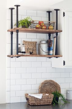 Farmhouse Kitchen Shelves | The Lily Pad Cottage