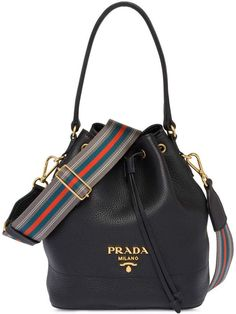Leather Bucket Bag by Prada Prada Handbags, Fashion Handbags, Purses And Handbags, Fashion Bags, Cheap Handbags, Handbags Online, Wholesale Handbags, Fashion Purses, Prada Tote