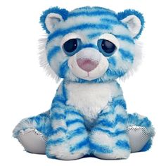 Twinkle the Blue Plush Tiger Dreamy Eyes Stuffed Wild Cat by Aurora at Stuffed Safari