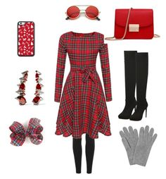 """Christmas fashion"" by dancer6925 ❤ liked on Polyvore featuring beauty, adidas Originals, Noir Jewelry, L.K.Bennett and ZeroUV"