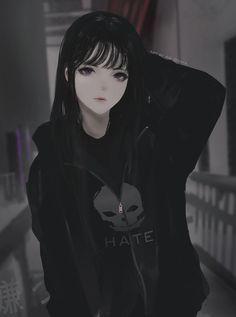 Aoi ogata Create of any list of manga you've seen and learn new manga plus more ! on Anime- Dark Anime Girl, Manga Girl, Emo Anime Girl, Pretty Anime Girl, Beautiful Anime Girl, Anime Guys, Blue Anime, Black Anime Guy, Beautiful Girl Drawing