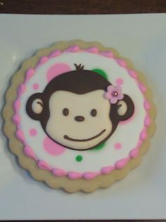 Girly Monkey Sugar Cookies