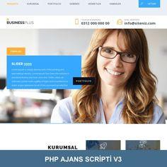 Mobil Uyumlu Reklam Ajansı Scripti. PHP Ajans Scripti V3 Php, Sliders, Romper