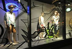 Bershka window displays Summer 2012, Budapest visual merchandising