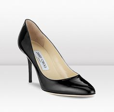 My very first pair of Jimmy Choos!     (Jimmy Choo Gilbert Black Patent Leather Pumps)