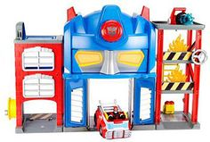 Playskool Heroes Transformers Rescue Bots Electronic Fire Station Prime Playset