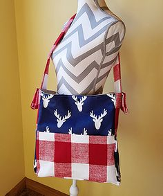 Take a look at this Brownie Gifts Navy Antlers Diaper Bag today!