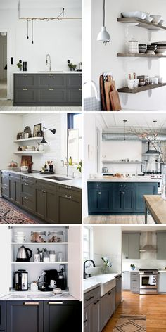 love the drama of the darker cabinets on bottom.