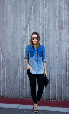 Distressed Denim Shirt | Clothes & Quotes