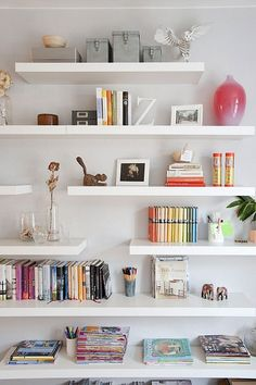 IKEA Lack shelf is a cool basic shelf, and you can use it wherever and however you want. IKEA Lack shelves can become nice corner shelves, floating . Ikea Lack Shelves, Lack Shelf, Floating Bookshelves, Floating Shelves Bathroom, Glass Shelves, Book Shelves, Bedroom Shelves, Shelf Nightstand, Floating Wall