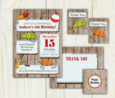 Your place to buy and sell all things handmade 8th Birthday, Birthday Parties, Happy Birthday, Fishing Hole, Baby Shower Themes, Shower Ideas, Summer Parties, Rsvp, First Birthdays