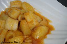 Cocinando con Montse: Guiso de sepia con patatas Spanish Food, Spanish Recipes, Carne, Shrimp, Meat, Vegetables, Potatoes, Kitchens, Winter