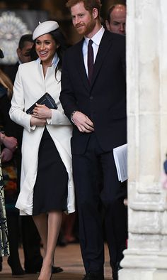 Meghan and Harry were all smiles as they left the Abbey after the service.   Photo: © Getty Images