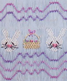 Easter Smocking Plates at Baltazor.com | Bunnies & Baskets by Pat Garretson