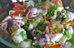 Marinated Poached Italian Seafood Salad: Insalata Frutti di Mare by a canadianfoodie #Salad #Seafood #Insalata_Frutti_di_Mare
