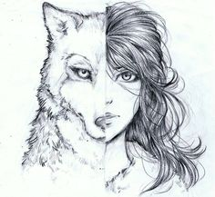 Wolf/Girl by bluemist72.deviantart.com on @deviantART