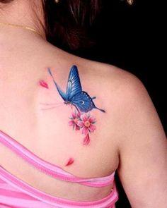 Resultado de imagen para tatuajes de maripositas 3d