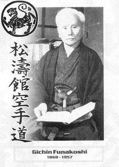 SENSEI FUNAKOSHI GICHIN.....Okinawan instructor considered modern father of Karate...style was Shotokon
