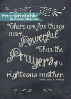 Prayers of a Mother ~Free Printable
