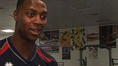 Meet GB volleyball player Peter Bakare, who has an incredible ability to leap onto 65 inch boxes, and to vault BBC Sport reporter Nick Hope.