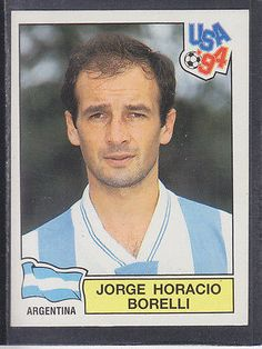 Panini - usa 94 #world cup - # 251 jorge #borelli - argentina #(black back),  View more on the LINK: http://www.zeppy.io/product/gb/2/301624056239/