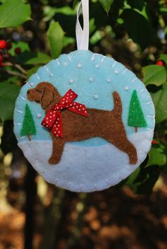 Check out this Fab Labrador/Beagle Christmas Ornament by TizzyLishBoutique